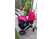 uppababy travel system (red). excellent condition