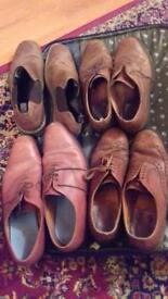 8 Pairs Of Vintage Leather Mens Shoes