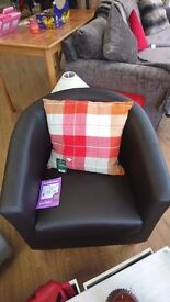 BRAND NEW!!!! Leather Black Tub Chair