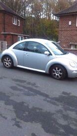Silver volks wagon beetle 2005