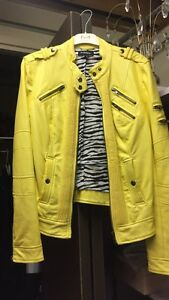 Yellow Leather Jacket-  le chateau