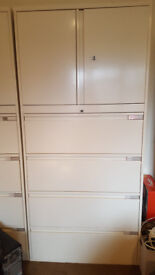 Filing cabinet and storage cupboards