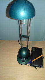 SALE-££-SALE Brilliant Halogen Desk Top Lamp - Stressed Brushed Green - For Sale