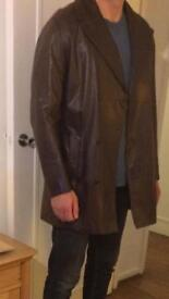 Gieves & hawes brown leather jacket and