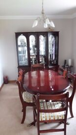 Dining room table 6 chairs Matching wall unit