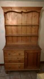 Rustic pine farmhouse dresser