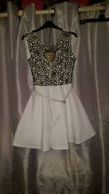 Size 14 white and gold dress