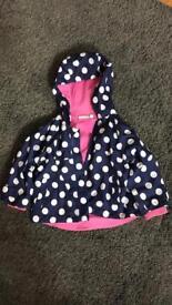 Jojo Maman girls rain jacket 12-18 monthd