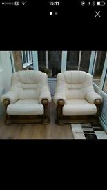 Good quality Italian leather chairs