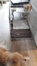 Xl large silver dog crate