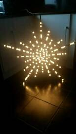 Xmas indoor star led light on stand