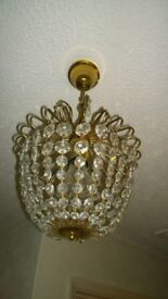 Beautiful crystal type spherical light fittings x 2