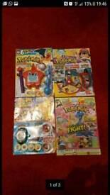 Pokemon magazines x 8 new c/w toys cards etc