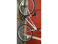 Ladies silver bike in excellent condition only used twice. Accessories included. BARGAIN