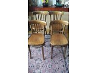 CT9 - Michael Thonet Style Bentwood Chair Krakow Early 20th Century Victorian