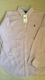 Boys Ralph Lauren Shirt Size large boys brand new cost $39.99 + tax in the US. Fit age 11 - 14
