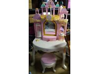 Barbie dressing table with lights and music