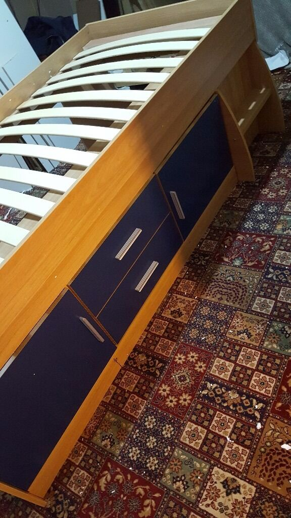Brand new blue and oak colour cabin bed £125