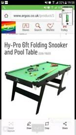 Hypro folding snooker table 6ft