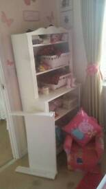 Lovely white unit with changing table and matching cot