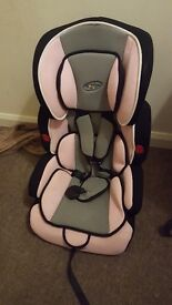 Pink booster seat with back