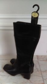 ladies new knee high leather boots