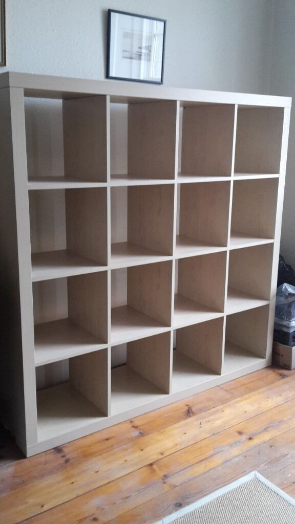 ikea expedit shelves 4 x 4 beech effect not kallax in stockbridge edinburgh gumtree. Black Bedroom Furniture Sets. Home Design Ideas