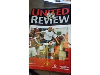 Very old Manchester United 'Review ' magazines