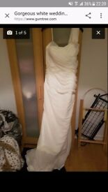 White wedding dress size 12-14