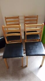 Set of 4 Padded Dining/All-Utility Chairs