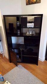 very modern black high gloss living room furniture