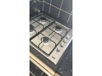 Built in BUSH electric oven and BEKO gas hobs - less than 12 months old