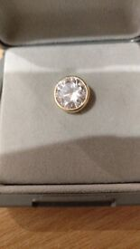 Crystal/gold Tie Pin/Tack Ideal Gift
