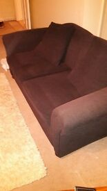 Sofa Bed, Black, really good condition and very sturdy.