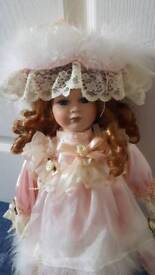 Doll on stand. Collectors. Pretty