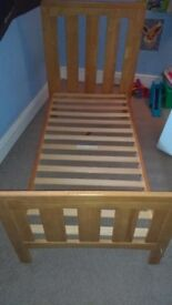 Mamma's and Pappas toddler bed and mattress there are a few scuffs and wear and tear