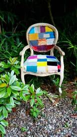 Shabby chic patchwork chair