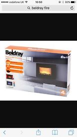 Beldray imperia LED colour changing wall fire