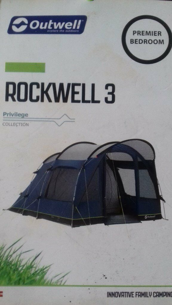 new product e3ec6 78681 OUTWELL ROCKWELL 3 TENT AND CAMPING GEAR | in Luddendenfoot, West Yorkshire  | Gumtree