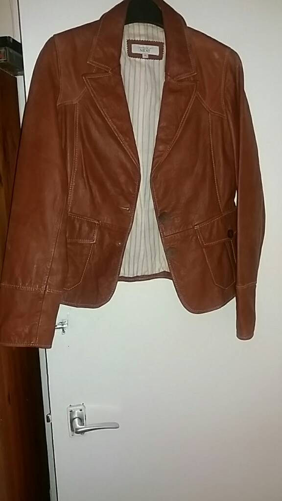 Brown leather jacket Nextin Moseley, West MidlandsGumtree - Brown leather jacket size 14 from next vgc