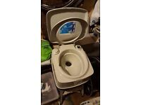 Portable toilet camping, boat, caravan. AS NEW