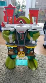 Teenage mutant ninja turtles half shell hero's headquarters playset