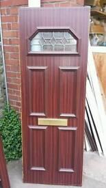Rosewood upvc door Panel W650 X H 1780 X 24mm