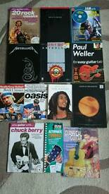 Guitar tab books, rock, metal, reggae, indie, blues