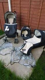 3-in-1 Mickey mouse travel system