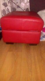 Red storage seat