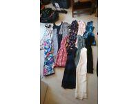 Big bundle of female clothing and shoes