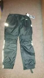 Textile winter biker trousers