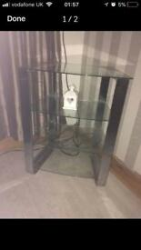 ⭐️ REDUCED/ glass tables / shelves / glass table 3 tier unit