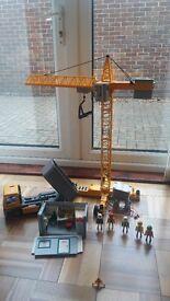 Playmobil large bundle - construction, police, robbers, playground, go carts, speedboat, refuse etc